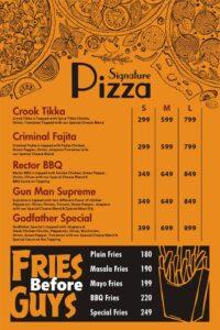 Godfather Burger Menu Prices 1