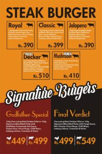 Godfather Burger Menu Prices 3
