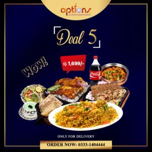 Options Restaurant Barkat Market Deals 2