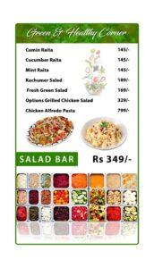 Options Restaurant Barkat Market Menu 1