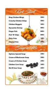 Options Restaurant Barkat Market Menu