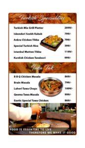 Options Restaurant Barkat Market Menu 7