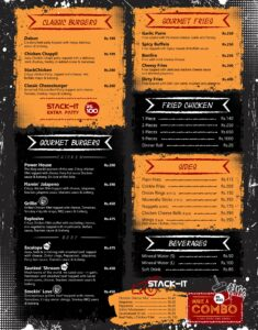Stackers Burger Cafe Menu 3