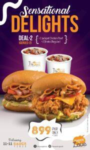 The Sauce Burger Cafe Karachi Deals