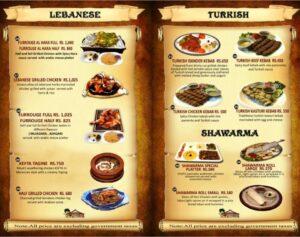 Arabian Nights Karachi Menu 2