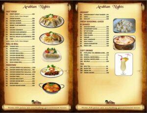 Arabian Nights Karachi Menu 4