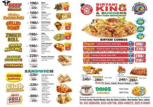 Biryani King Barkat Market Menu