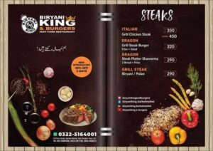 Biryani King and Burgers Barkat Market Lahore
