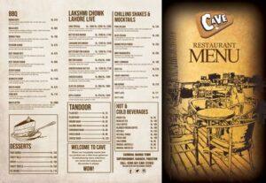 Cave Restaurant Menu Prices 2