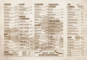 Cave Restaurant Menu Prices 3