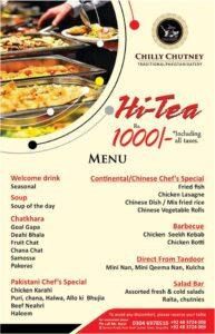 Chili Chutney Hi-Tea Menu