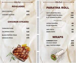 Cup Shup Menu Prices 2