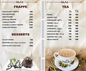 Cup Shup Menu Prices 5