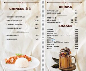 Cup Shup Menu Prices 6