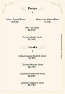 Eatino Restaurant Menu Card 2