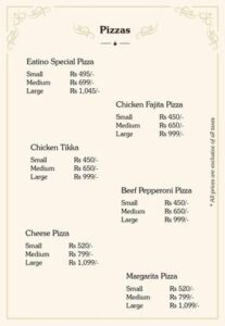 Eatino Restaurant Menu Card 3