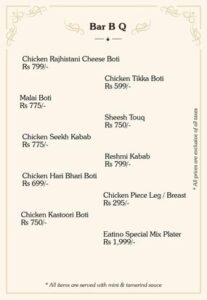 Eatino Restaurant Menu Card 4