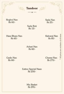 Eatino Restaurant Menu Card 5