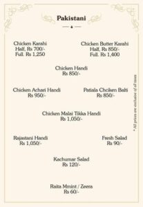 Eatino Restaurant Menu Card 7