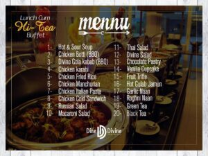 Lunch-Cum Hi-Tea Menu 2
