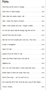 Okra Restaurant Brunch Menu 1