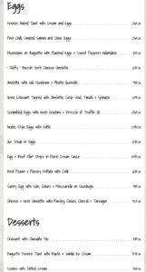 Okra Restaurant Brunch Menu 2
