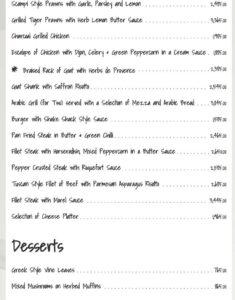 Okra-The Restaurant Menu 2