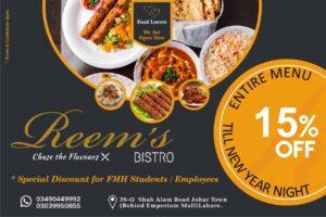Reems Bistro Lahore Deals 1