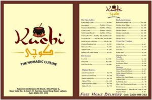 Kuchi Restaurant Menu 1