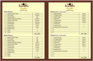 Kuchi Restaurant Menu 2