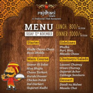 Rajdhani Delights Menu Prices 3