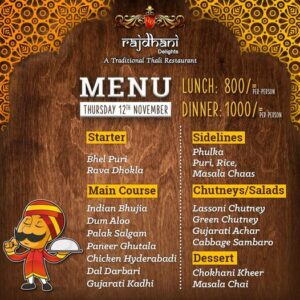 Rajdhani Delights Menu Prices 4
