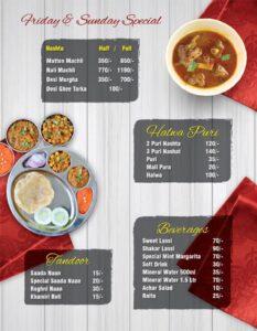 Rawayat Restaurant Faisalabad Menu