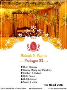 YBC Wedding Package 3