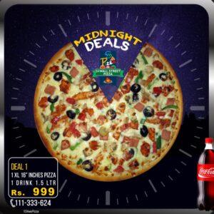 24 Wall Street Pizza Midnight Deal