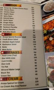 Anaya Chinese Menu Prices 6