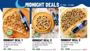 Broadway Pizza Midnight Deals in Lahore