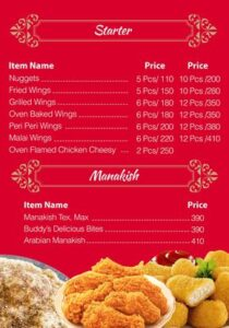 Buddys Kitchen Menu Prices 2