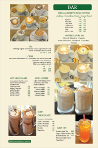 Coffee Tea Company Menu 3