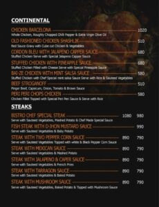 Oaklays Bistro Menu Prices 3