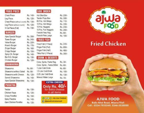 Ajwa Food Point Menu Prices