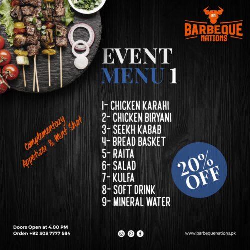 Barbeque Nation Event Menu 1