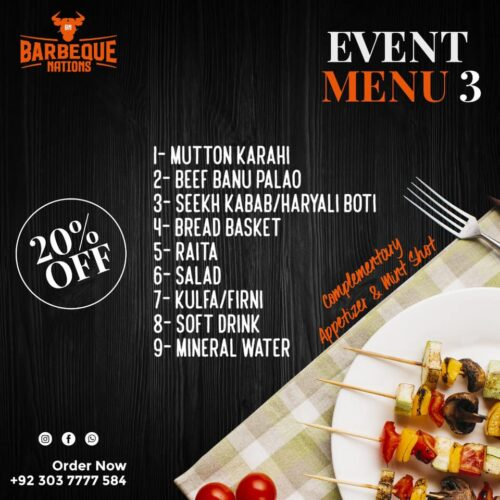 Barbeque Nation Event Menu 3