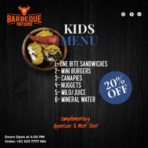 Barbeque Nation Kids Menu