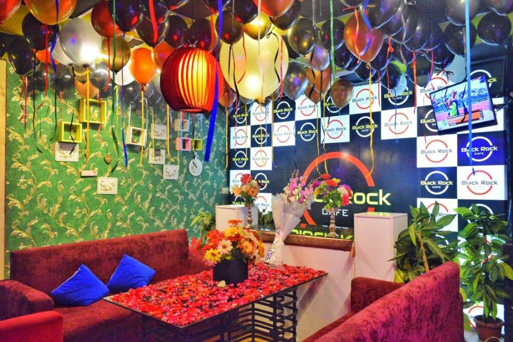 Black Rock Cafe Islamabad Birthday Decoration