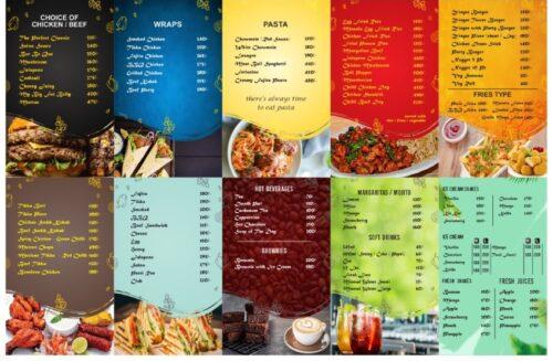 Cafe 2020 Johar Town Menu