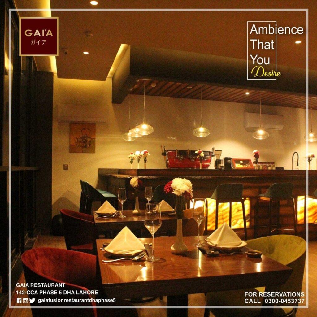 Gaia Restaurant Lahore Menu 5