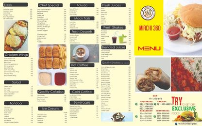 Mirchi 360 Defence Hyderabad Menu Prices 1