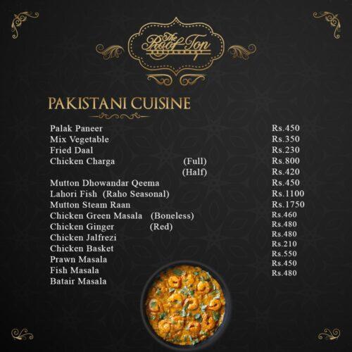Rooftop Restaurant Hyderabad Pakistani Menu