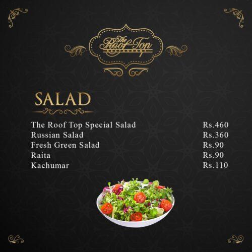 Rooftop Restaurant Hyderabad Salad
